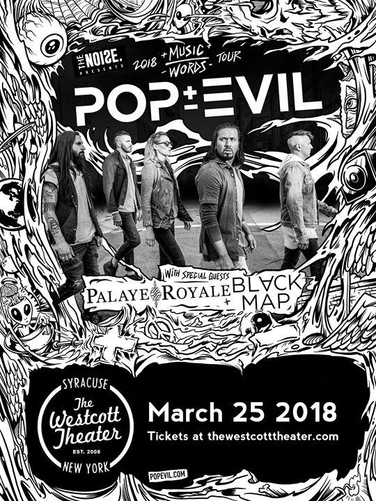 The Noise Presents - Pop Evil: Music Over Words Tour - Westcott Community
